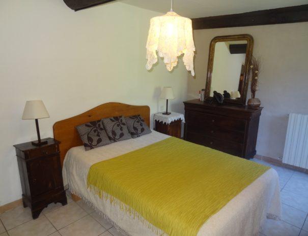 Gîte de l'Angladette : Chambre avec lit double
