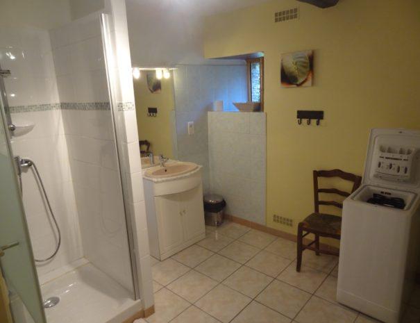 Gîte de l'Angladette : Salle de bain