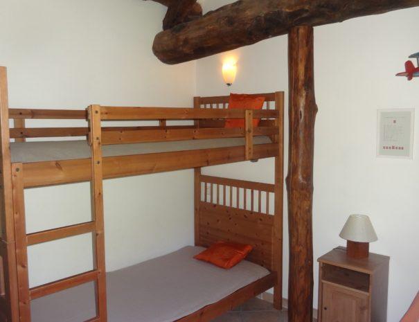 Gîte Le Dao : Chambre avec lits superposés